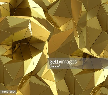 Luxury gold abstract triangle background : Stockfoto