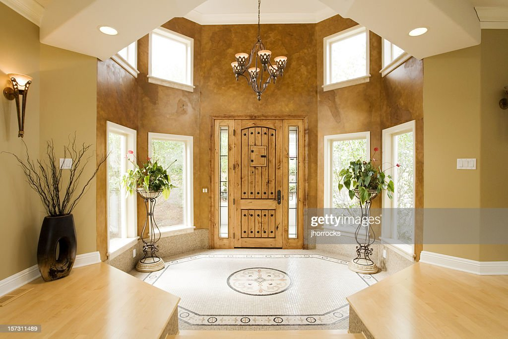 Luxury Home Foyer : Luxury home entryway stock photo getty images