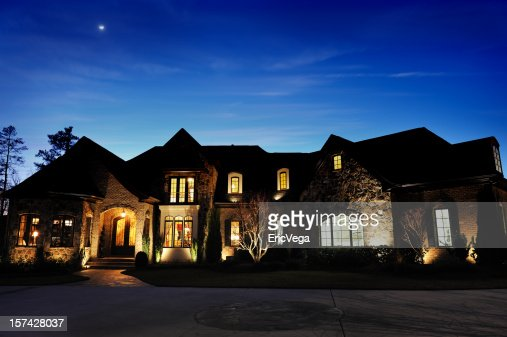 House At Night Exterior Stock Photos And Pictures Getty Images