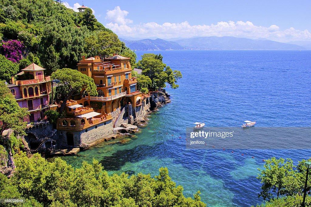Luxury Homes Along The Coast At Portofino, Italy