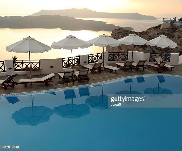 Luxury Hotel At Sunset