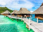 Luxury Hotel Resort Beach Huts Polynesia