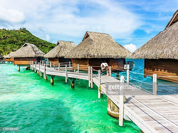 Luxury Hotel Resort Beach Huts Polynesia