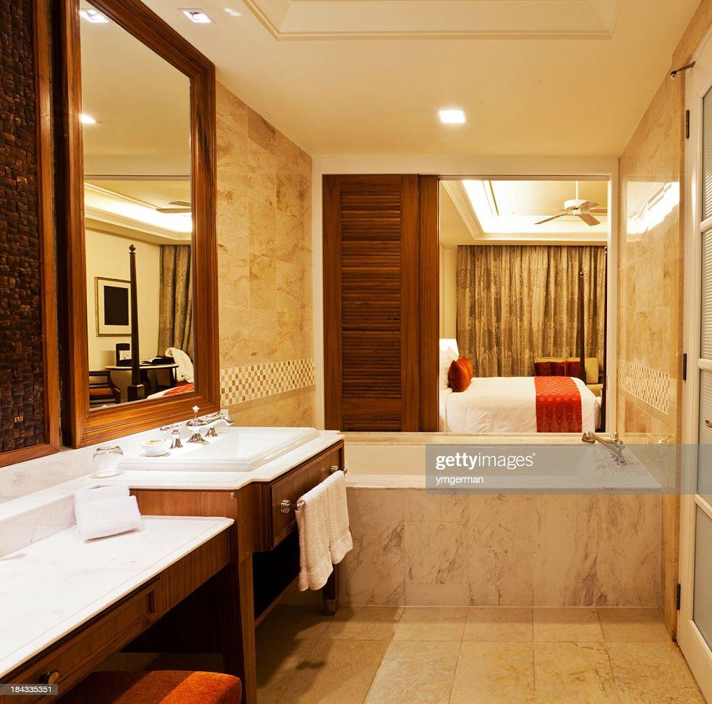 Luxury Hotel Room Interior Design: Luxury Hotel Room Stock Photo