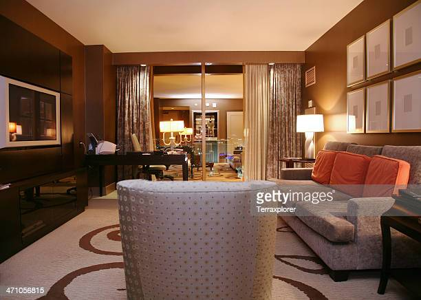 Luxury Hotel Suite At Night
