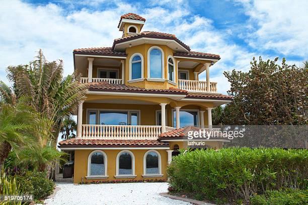 Luxury  House , Venice, Florida. Blue sky.
