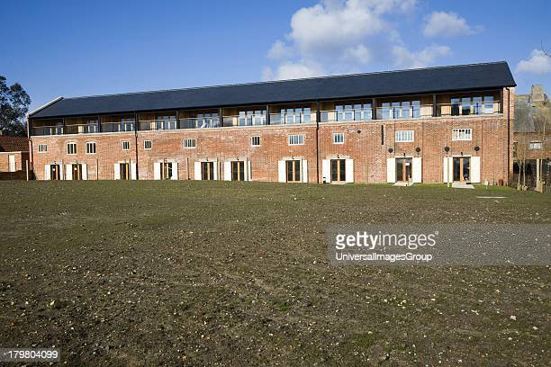 Luxury housing development of Iken View in former industrial buildings at Snape Maltings Suffolk England