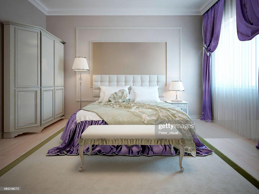 Camere Da Letto Art Deco : Interni di lusso della camera da letto in stile art déco foto