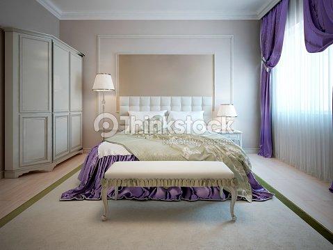 Camere Da Letto Art Deco : Interni di lusso della camera da letto in stile art déco foto stock