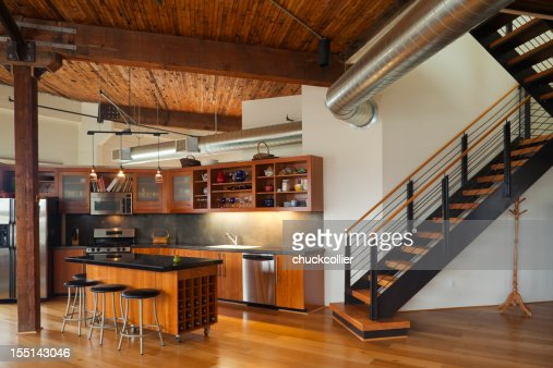 luxury kitchen in modern home stock photo getty images