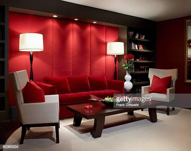 Luxury living room in New York City apartment.