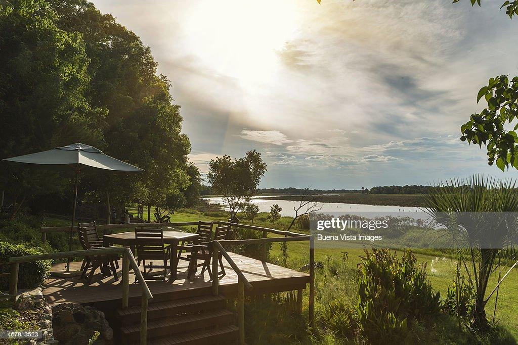 Luxury Lodge on the Okavango River.