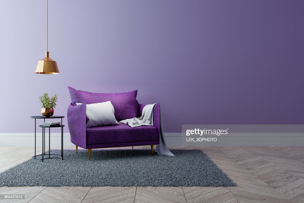luxury modern interior of living room ultraviolet home decor concept rh thinkstockphotos in