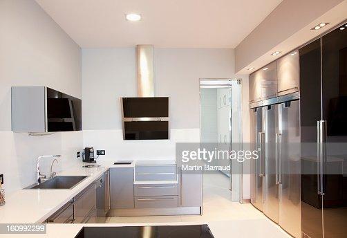 Luxury modern kitchen : Stock Photo