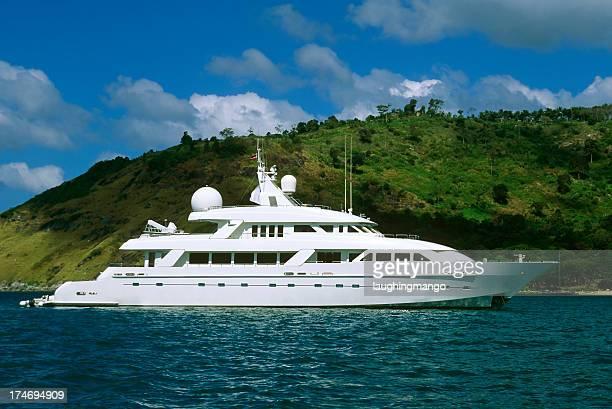 luxury motor yacht boat island wealth phuket thailand