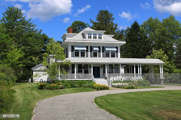 Luxury New England House Among Trees, Kennebunkport, Maine, USA.