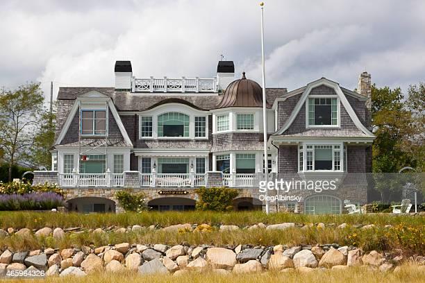 Luxury New England Waterfront House, Chatham, Cape Cod, Massachusetts, USA.