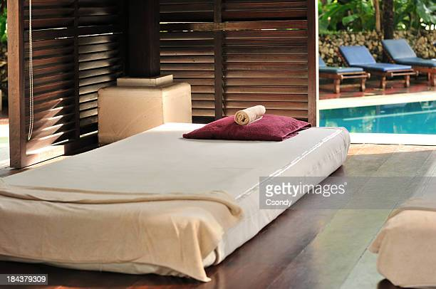 Luxury outdoor massage area