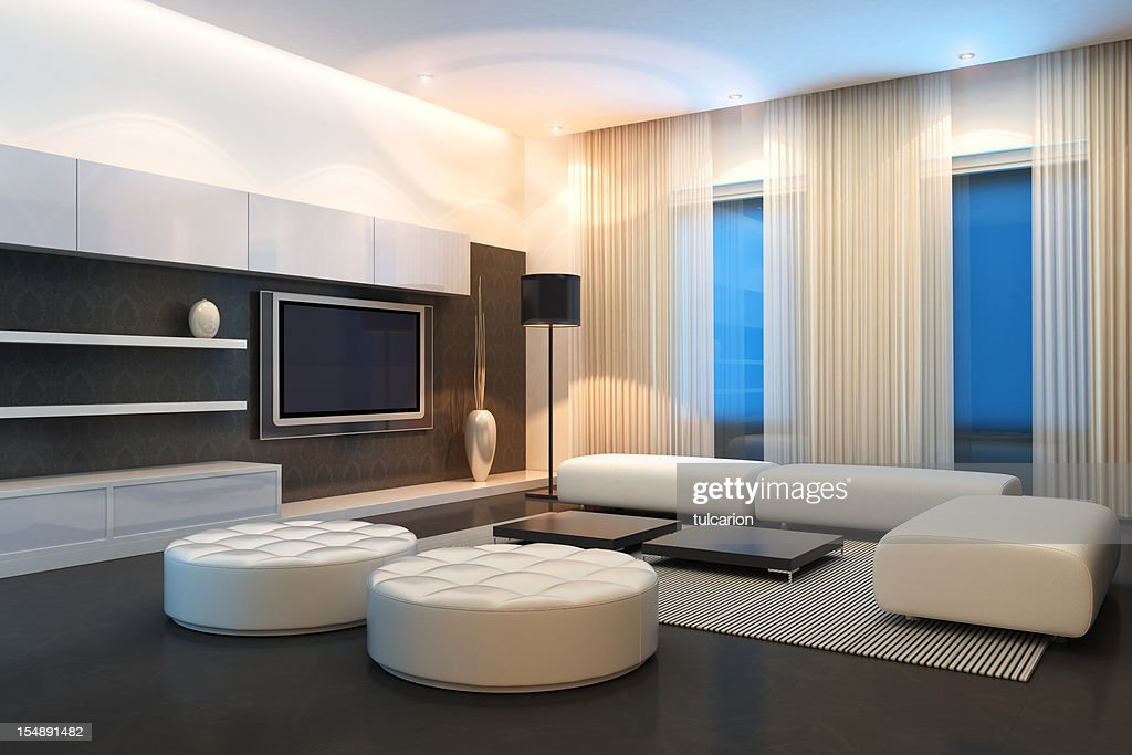 Luxurious Penthouse Dramatic Interior Luxury Penthouse Interior Stock Photo Getty Images