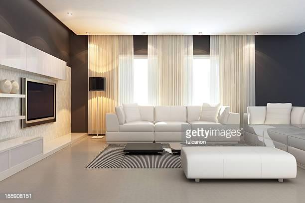 Interior de lujo de la suite tipo Penthouse