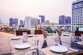 luxury private dinner rooftop in Bangkok, Thailand