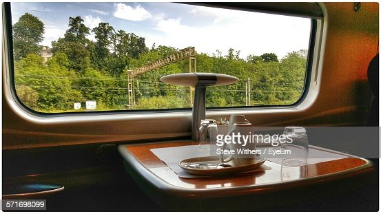 Luxury Restaurant Compartment In Train Carriage
