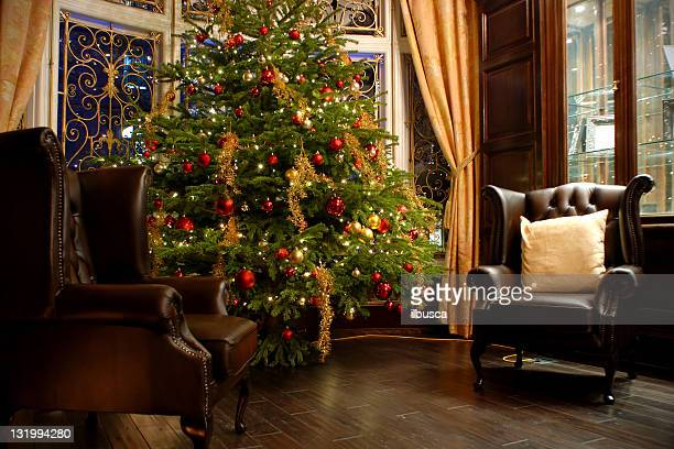 Luxury room indoor at Christmas time