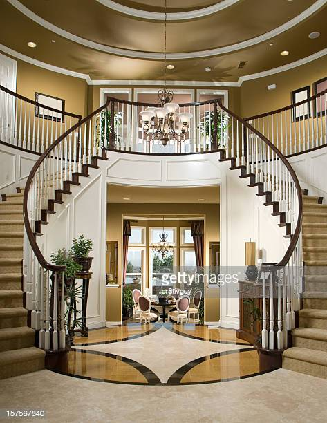 Granite stairs stock photos and pictures getty images for Luxury staircase design