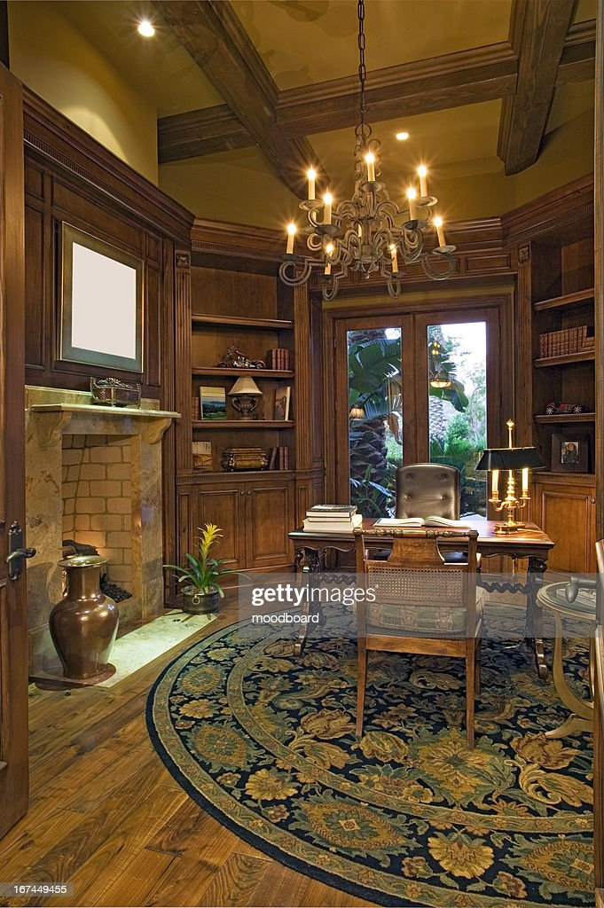 Luxury Study of Californian home : Stock Photo