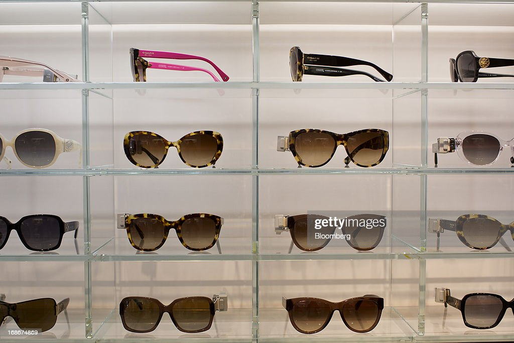 coach usa outlet online store af17  Luxury sunglasses are displayed for sale at a Coach Inc store in New York,