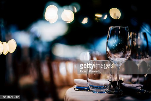 Luxury Table setting for party, Christmas, holidays and weddings. : Foto de stock