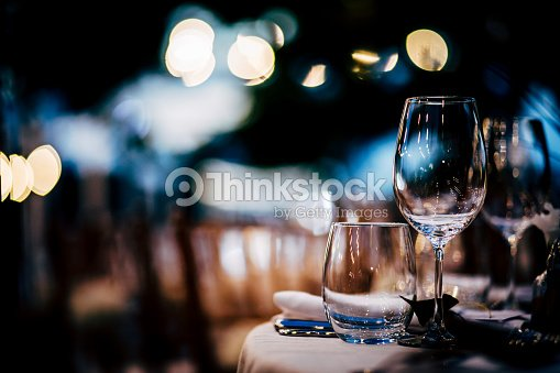 Luxury Table setting for party, Christmas, holidays and weddings. : Stock Photo