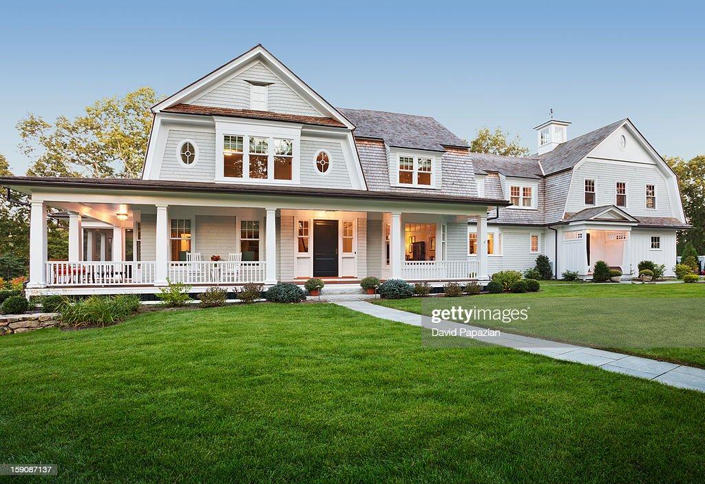 Luxury traditonal styled home : Stock Photo