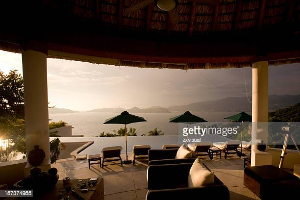 Luxury Villa at Sunset in Acapulco Mexico