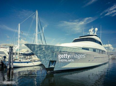 luxury yacht at coconut grove marina