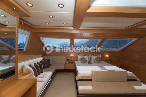Iate de luxo interior iate de cabina foto de stock for Arredo barche