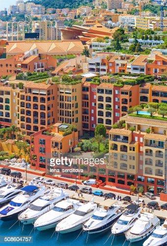 Luxury yachts in harbour of Monaco, Cote d'Azur : Stock Photo