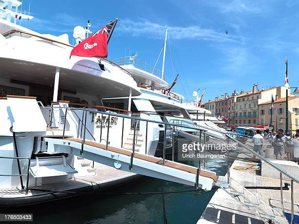 Luxury yachts in the harbour of Saint Tropez on June 22 2013 in Saint Tropez Cote d'Azur France