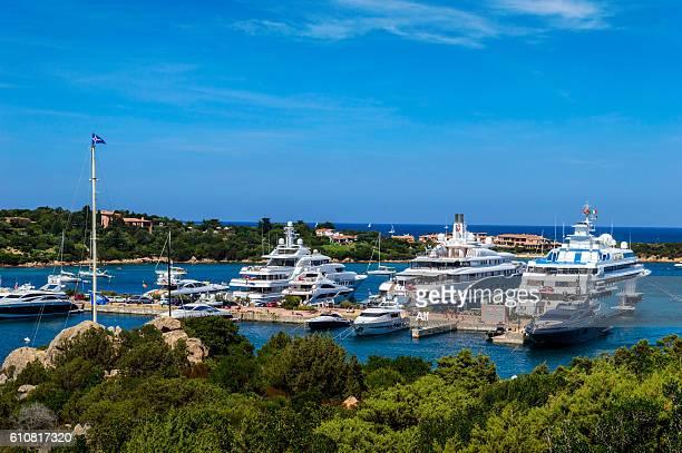 Luxury yatchs in Porto Cervo - Sardinia- Italy