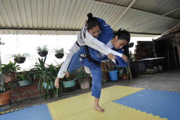 COL: Colombian Judoka Luz Alvarez Salazar Trains in Isolation