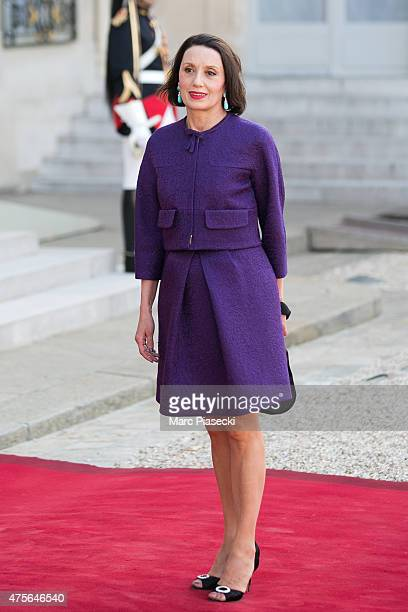 Luz Casal arrives at the State Dinner offered by French President François Hollande at the Elysee Palace on June 2 2015 in Paris France