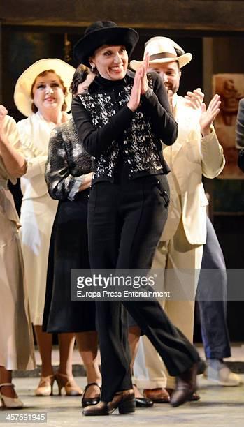 Luz Casal attends a homage to the mezzosoprano Teresa Berganza at Zarzuela Theatre on December 17 2013 in Madrid Spain