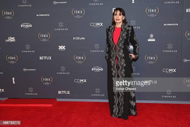 Luz Casal attends Premio Iberoamericano de Cine Fenix 2015 at Teatro de La Ciudad on November 25 2015 in Mexico City Mexico