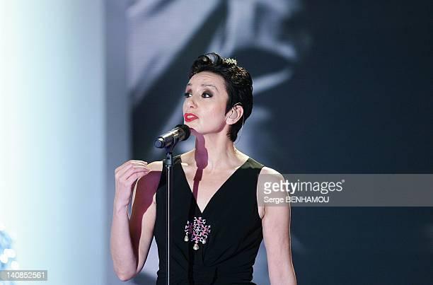Luz Casal attends Vivement Dimanche TV show on December 14 2011 in Paris France