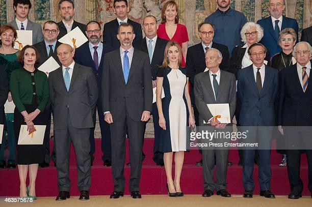 Luz Casal Jose Ignacio Wert King Felipe VI of Spain and Queen Letizia of Spain attend 'National Culture Awards' 2015 on February 16 2015 in Madrid...