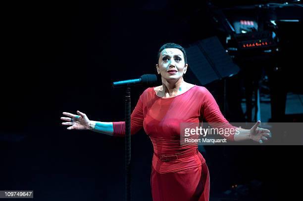 Luz Casal performs in concert at the Gran Teatre de Liceu on March 3 2011 in Barcelona Spain