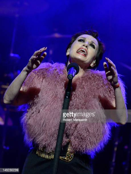 Luz Casal performs on stage at the Gran Teatre del Liceu on May 24 2012 in Barcelona Spain