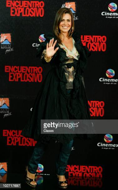 Luz Elena Gonzalez attends to the Knigth and Day movie premiere at Cinemex Santa Fe on July 72010 in Mexico City Mexico