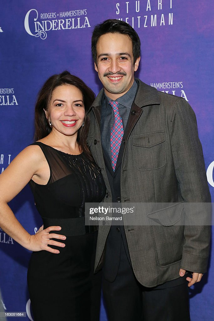 Luz Miranda and <a gi-track='captionPersonalityLinkClicked' href=/galleries/search?phrase=Lin-Manuel+Miranda&family=editorial&specificpeople=4190598 ng-click='$event.stopPropagation()'>Lin-Manuel Miranda</a> attend the 'Cinderella' Broadway Opening Night at Broadway Theatre on March 3, 2013 in New York City.