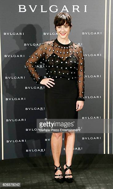 Luz Valdenebro attends the opening of the exhibition 'Bulgari and Roma' at Italian Embassy on November 28 2016 in Madrid Spain